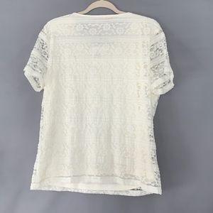 Calvin Klein Tops - Calvin Klein Lace Layered Short Sleeve Blouse